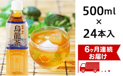0171 【6ヶ月連続お届け】胎内高原の烏龍茶 500ml×24本入
