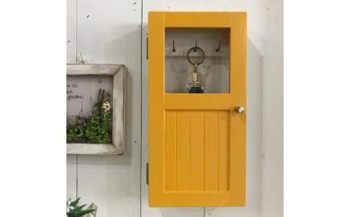 小さな扉のキーボックス 黄色