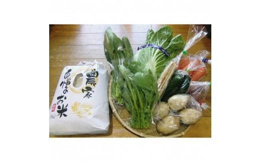 A-80 産地直送!安心院のお米と季節の野菜詰合せ