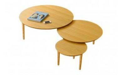バルーンリビングテーブル 90-3枚 ホワイトオーク