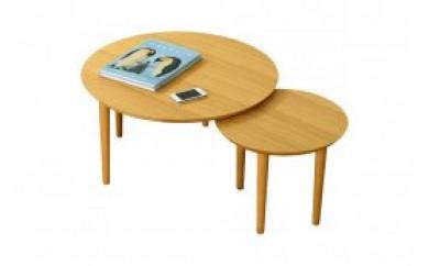バルーンリビングテーブル 69-2枚 ホワイトオーク