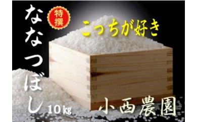 小西ファーム 特選「ななつぼし」10kg