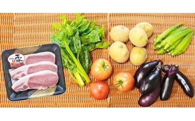 D7049-C「ごちそう定期便」(赤豚・野菜コース6ヶ月コース)【80000pt】