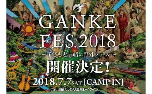 W-1501 GANKE FES 2018 チケット