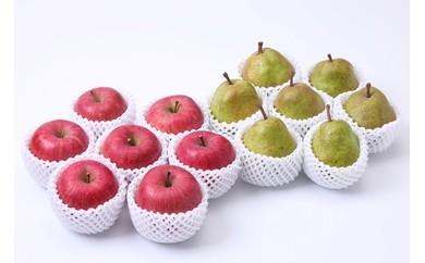 2018年度分♪  どちらも食べたい!「サンふじりんご&ラ・フランス詰め合わせセット5k」