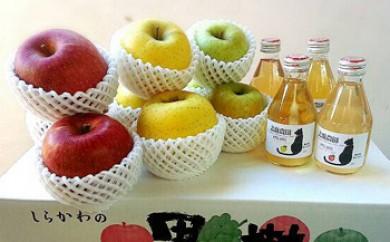 北條農園の林檎とりんごジュース(大箱)