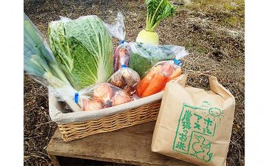 [№5809-2168]季節の野菜・お米セット