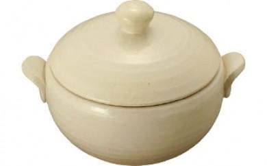 蒸し土鍋S(オフホワイト)