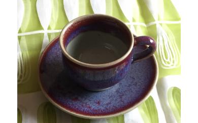 開窯70年の伝統 北海道のやきもの こぶ志窯 玉虫釉 丸コーヒーC/S