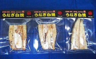 [№5810-0207]うなぎ専門店「中村商店」のうなぎ白焼 3パック