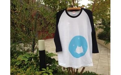 【しゅうニャン市ネコ部】しゅうニャン猫長袖ラグランTシャツ(S~XLサイズ)