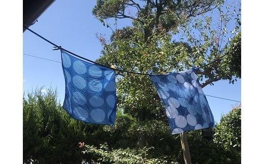 30-167 藍染体験 おのころ藍の本建て正藍染体験 (バンダナの藍染体験)