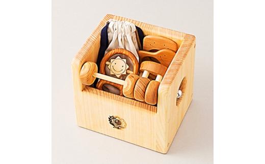 10-(6)赤ちゃんのおもちゃ月セット(箱入り)