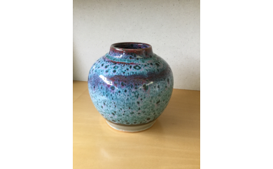 開窯70年の伝統 北海道のやきもの こぶ志窯 花瓶(木箱入)