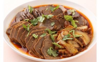 【牛肉とハチノス、豚タンとハツの特製タレ煮】日本初上陸-伝統中国料理-鹵菜(ルサイ) 真空パック185g