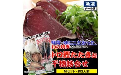 土佐久礼・トロ鰹たたきと干物詰合せ【Mセット・約3人前】多田水産・高知