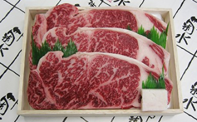 神戸菊水・黒毛和牛サーロインステーキ用【200g×3枚】