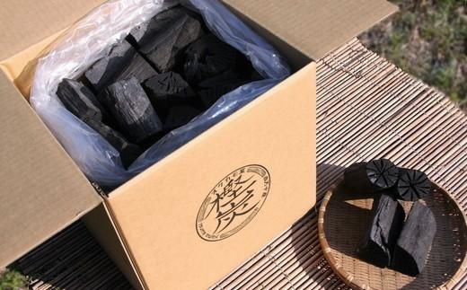 四万十市産 黒炭(樫7㎏/箱×1箱)