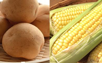 [№5642-0207]ひだまりファーム トウモロコシ10本とジャガイモ5kgセット