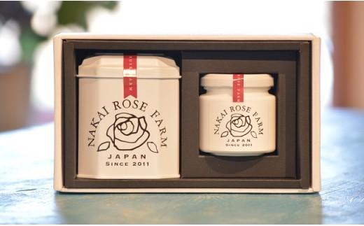 【020-008】日本初!バラの葉茶「ローズリーフ」&バラジャム