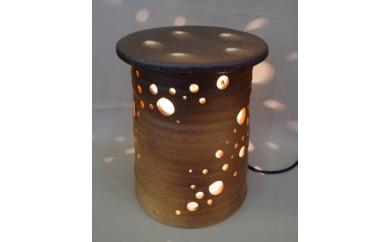 信楽焼 陶灯り(つくばい型)
