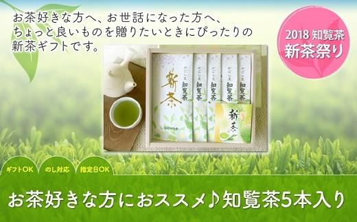003-14 【知覧茶新茶祭り】お茶好きな方にオススメ♪知覧茶5本入りK-15