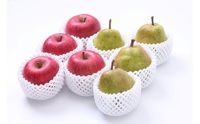 2018年度分♪  どちらも食べたい!「サンふじりんご&ラ・フランス詰め合わせセット3k」