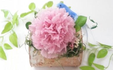 [№5696-3306]【母の日】プリザーブドフラワー カーネーションと白樺
