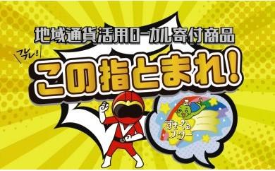 地域通貨活用ローカル寄付商品 フレフレ!この指とまれ!for チームRED 2000スター☆