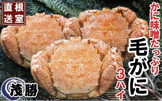 CB-05002 北海道産毛がに(500g前後×3尾)[351716]