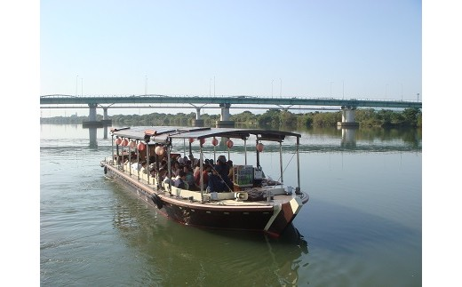 《T3-008》一本松海運主催舟運乗船引換券【平成30年9月・10月の運航(午後)便 大人2名】