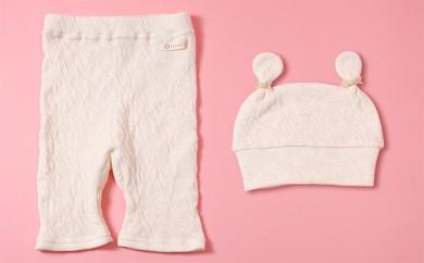 [№5544-0031]ベビーレギンス短とベビー帽子セット