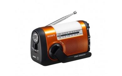 ソニー  携帯電話に充電できる手回し充電ラジオ ICF-B09 D (オレンジ)