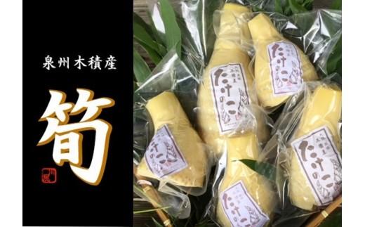 C-67.【生産者直送】貝塚市木積産 朝掘り竹の子水煮 1kg
