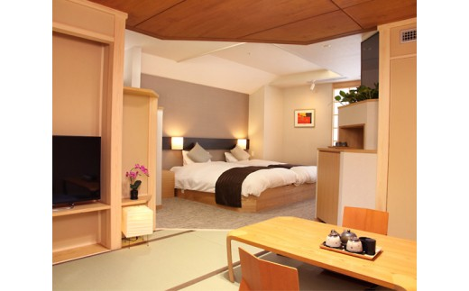 No.224 Hotel Plaza 迎賓 ペア宿泊券(1泊2食・和モダン室)
