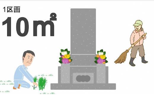 A-45.【申込前、要連絡】お墓のお掃除サービス 約10㎡(草引・清掃)