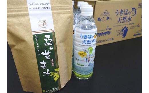 【B048】うきはの天然水(500ml×24本)と末左衛門「桑の葉青汁(24包)」のセット