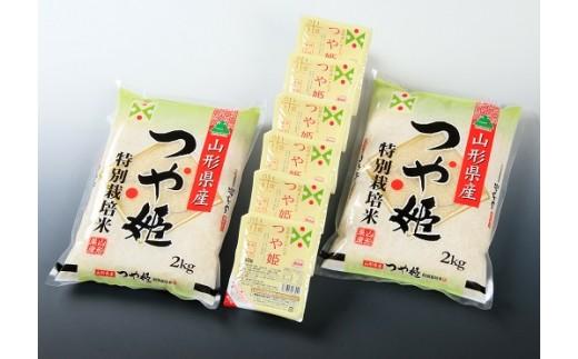 012 つや姫 定期便(2kg×2袋+パックライス6)12回分