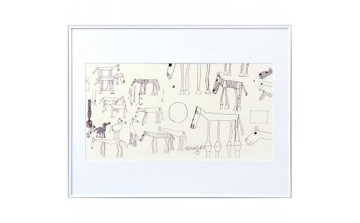 J-10 猪熊弦一郎現代美術館 シルクスクリーン 馬 ホワイト