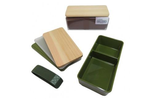 高知県産四万十ひのき蓋付き国産お弁当箱 オリーブオブグリーン