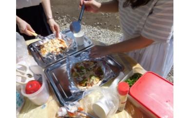 体験プラン:ピザ作りとトッピング/ツリーテラスでのランチタイム&露天風呂入浴