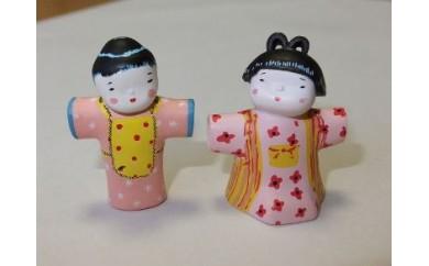 三四呂人形ストラップ(里子・桃子)