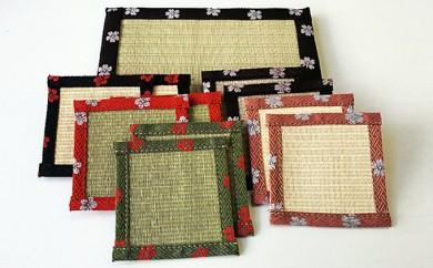 [№5533-0053]HANA咲く畳コ-スタ-花台ブラウンセット