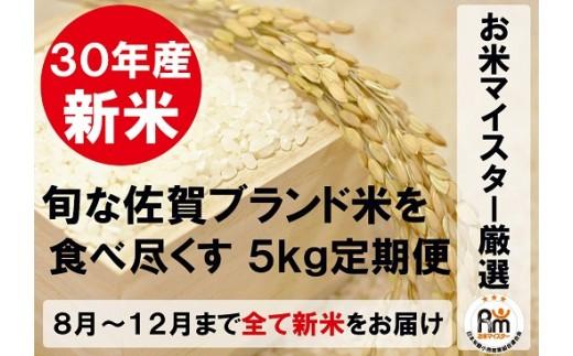 G-13【新米限定定期便】佐賀県産ブランド米(白米5kg×5回コース)