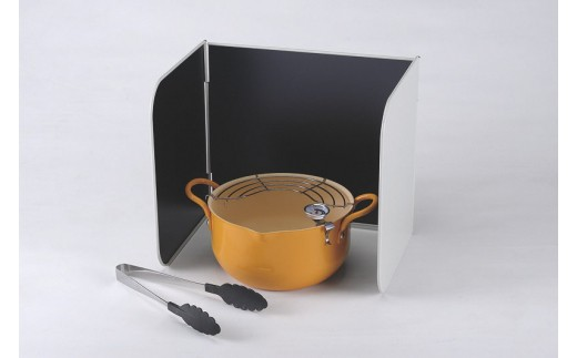 1801074 サミット工業 天ぷら鍋3点セット