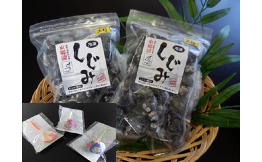 A-16 東郷湖冷凍しじみ(大粒)1kg(しじみストラップ1個付)