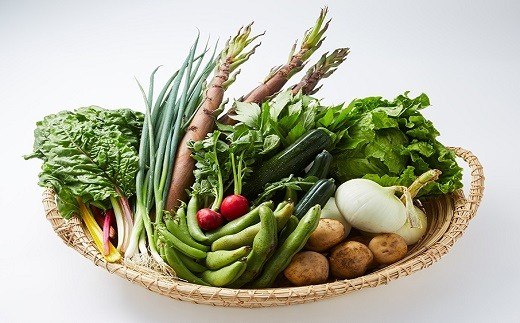 [Fa-02]湯の花 旬の野菜セット半年間の定期便