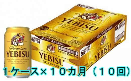 J-035 【10カ月定期便】サッポロヱビスビール350ml(1ケース×10回)