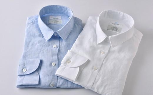 [№5636-0285]【限定】HITOYOSHIリネンシャツ婦人用2枚セット
