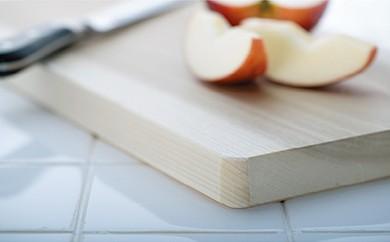 【職人歴65年の匠のこだわり】国産ほおの木 天然一枚板のまな板 43×22×2.7㎝